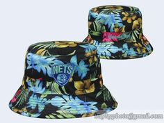 online retailer 06b3f 9640a NBA Brooklyn  Nets  BucketHats Flora Colorful 502 Bucket Cap, Flat Bill Hats ,
