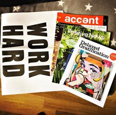 Nice influx of mags to read this weekend #magazines @positivenewsuk @dg_quarterly @accent_magazine @stackmagazines
