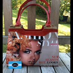 Trendy Fashion Magazine Red Shiny Handbag Satchel This great statement bag is a kick and clearly separates you as trend setter!  These large handles are great for a handbag, but also comes with shoulder straps on attach if desired. TRADES Happy to Bundle for discount.  lots of fun new fashion being posted this week from the Lil + Lo collection. Lil + Lo Bags Satchels