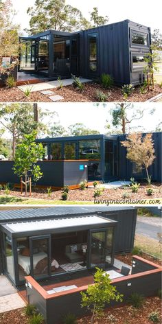 Container Design, Cargo Container Homes, Shipping Container Home Designs, Building A Container Home, Container Buildings, Container Architecture, Shipping Containers, Casas Containers, Box Houses