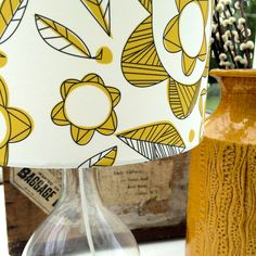Close up of lampshade in Meakin design, available to buy from wendykaye.co.uk