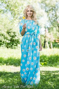 """Designer womens dresses """" SummerColor"""" This a VERY BEAUTYFUL maxi #dress with Floral Print   100% Viscose. Exclusive colors! Limited amount ! High quality fabric and sewing!  You can wear this dres... #dresses #clothing #fashion #eveningdress"""