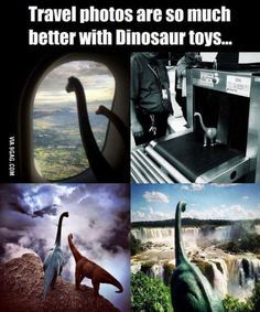 Dinosaur travel pics. Since I don't travel (cuz im poor), I'm gonna need you friends to do this...
