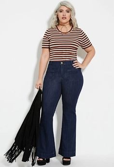 Plus Size Flared Jeans (Regular) | Forever 21 PLUS #forever21plus