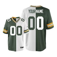 9841ad292 Nike Mens Green Bay Packers Customized Elite Team Road Two Tone NFL Jersey  free shipping Taco