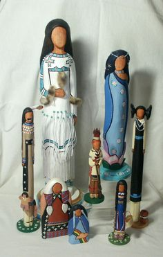 faceless American Indian dolls from My People
