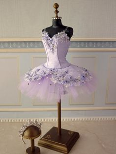 A miniature tutu handmade/ Miniature Ballet Costume/Sleeping Beauty  Lilac Fairy