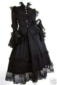 fashion elegant clothes clothing pretty beautiful dress goth gothic lolita
