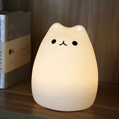 Purrfect Colorful Silicone Night Lamp Room Decor In 2019 Plywood Furniture, Led, Cute Night Lights, Cat Lamp, Room Lamp, Desk Lamp, Lamp Table, Kawaii Room, Cute Room Decor
