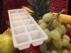 Reduce Food Waste with a Splash. Before fruit goes bad, put it in an ice-cube tray with water or juice, then freeze.  Use the fruit ice to make your holiday punch more festive.