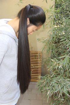 Long Ponytail Hairstyles, Long Hair Ponytail, Long Ponytails, Braids For Long Hair, Indian Hairstyles, Beautiful Long Hair, Beautiful Asian Girls, Gorgeous Hair, Long Black Hair