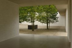 Cour intérieure Faryland House, Buckinghamshire, England by David Chipperfield Architects.