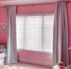 Recently installed 2 1/2in Wonderwood  blinds for this little girls room.  #girlpower #prettyandpink #blinds #lafayetteinteriorfashions #windowtreatments #quadcities #quadcitiesblinds #tagtheqc #yeswedoblinds #customblinds #blinds #blindinstallation #bettendorf
