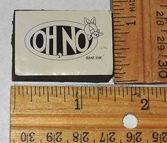 Oh No! Mary Engelbreit foam mounted rubber stamp