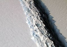 As wide as a football field, a 70-mile crack in Antarctica will create an iceberg the size of Delaware.