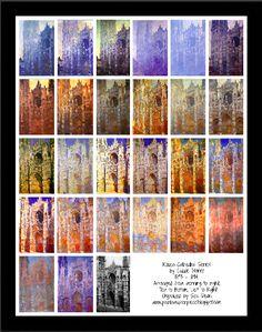 Sea Dean - Paint a Masterpiece: CLAUDE MONET - ROUEN CATHEDRAL SERIES - FREE LESSO...
