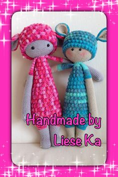 LUPO the lamb made by Liese Ka / crochet pattern by lalylala Crochet Dolls, Crochet Hats, Yarns, Felting, Lamb, Crocheting, Crochet Patterns, Teddy Bear, Knitting