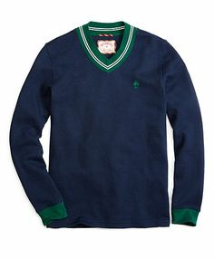 Cricket V-Neck Jersey - Brooks Brothers Southern Gentleman, Men's Sweaters, Sartorialist, Man Stuff, Perfect Man, Brooks Brothers, Swim Trunks, Traditional Outfits, Cricket