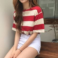 koreanische mode-outfits 632 - Source by emmakouseha Summer fashion Teen Fashion Outfits, Mode Outfits, Cute Fashion, Girl Outfits, Fashion Ideas, Fashion Shorts, Fashion Fall, Fashion Men, Hippie Fashion
