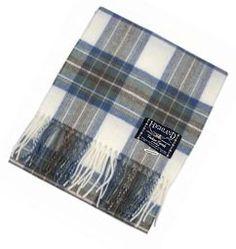 100% Scottish Wool Tartan Rug - Stewart Muted Blue Picnic Blanket: Amazon.co.uk: Clothing