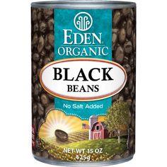 Eden Organic Black Beans, No Salt Added, 15-Ounce Cans (Pack of 12) - http://goodvibeorganics.com/eden-organic-black-beans-no-salt-added-15-ounce-cans-pack-of-12/