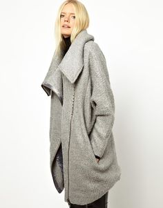 It's Cold So I am on The Hunt For Coats...Oversized Coats!   Just Female Wool Zip Coat $311.47