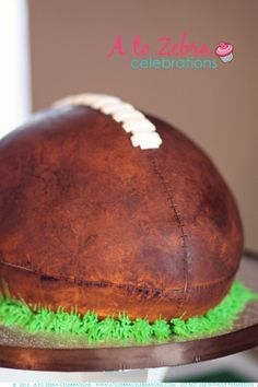 Cute #Cake and Fantasy Football #Party Ideas by A to Zebra Celebrations via LivingLocurto.com