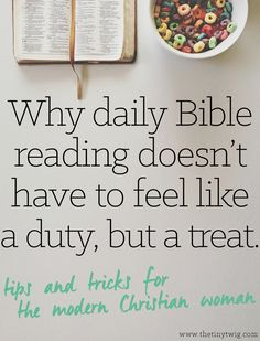 great idea about how to read and study your bible every day without feeling like it's a huge stress.