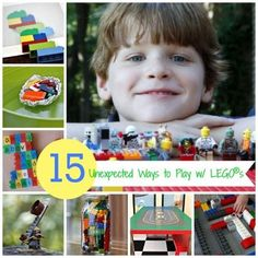 15 Unexpected Ways to Play with LEGOs {other than building w/ 'em :)}