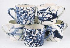 hinchcliffe and barber spongeware and splatter mugs