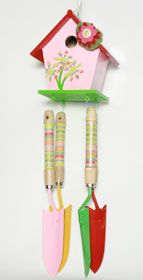 Birdhouse Windchime created with Mod Podge and FolkArt paints