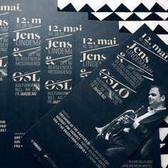 Typographic promotional design for Yamaha artist Jens Lindeman