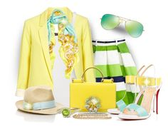 """""""Feel the Spring"""" by katyusha-kis ❤ liked on Polyvore featuring Kate Spade, Polo Ralph Lauren, Versace, Dolce&Gabbana, Christian Louboutin, Tory Burch, Ray-Ban and Gemvara"""