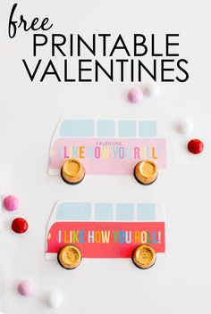 "Free Printable Valentines - super-cute ""I Like How You Roll"" Valentines with Rolos!"