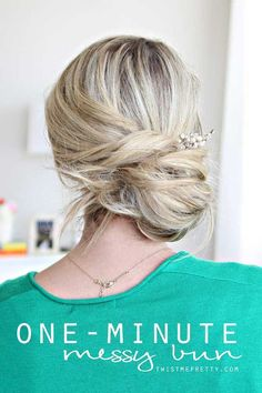 Best Summer Hairstyles - One-Minute Messy Bun Tutorial - Easy And Beautiful Short Hairstyles And Easy Summer Hairstyles That Are Cute And Work Great For Medium Hair, Long Hair, Short Hair, And Very Short Hair. Hairstyles, Undo's, Braids, And Ponytail Looks To Keep You Cool This Summer. Great Step By Step Tutorials And Tricks For Teens And Quick And Cute Looks For Brunettes With Shoulder Length Hair. Great Summer Hairstyles For The Beach, For Any Color, And Special Hacks For No Heat Boho…