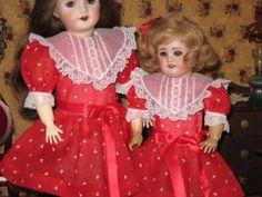 Valentine's dresses from vintage dimity.