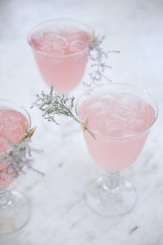 Blushing cocktails are the new blushing brides — cointreau, rose water and raspberry juice come together for an outright lovely aperitif. Click through for the recipe and for more lovely Valentine's Day drinks to sip with your love.