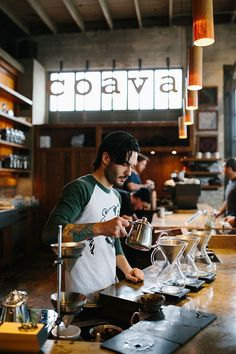 "sunflowersandsearchinghearts: "" About Coava Coffee Brew Bar "" My Coffee Shop, Coffee Shop Design, Great Coffee, Coffee Cafe, Cafe Design, Drip Coffee, Coffee Shops, Hipster Coffee Shop, Store Design"