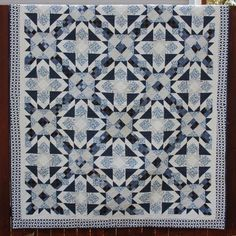 By combining two unique blocks in a limited color palette, we create a calm soothing quilt with a great interlocking design. 12 page pattern booklet with illustrations to walk you through each step. C