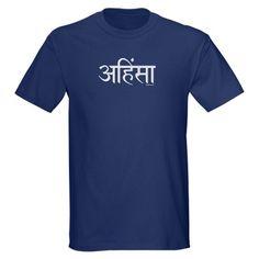 Sanskrit Ahimsa Dark T-Shirt for wifey