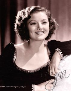 Myrna Loy (1905-1993) Most well known for her portrayal of Nora Charles in the Thin Man series with William Powell. Loy started in silent films as vamps or femme fatales. Her fervent hatred of Adolf Hitler put her on Hitler's blacklist. After WWII, she began appearing in comedies like The Bachelor and the Bobby Soxer, Cheaper by the Dozen, and Mr. Blandings Builds His Dream House. She retired in 1982.