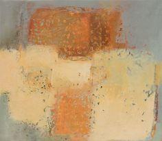"Jinni Thomas venitian plaster, gold leaf, acrylic Tranquility 44 x 50"""