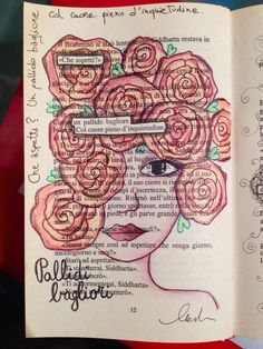 Pallidi bagliori my Neptune haired tuned into the royal violet dispatch tunage Old Book Art, Book Page Art, Poema Visual, Altered Books Pages, Found Poetry, Blackout Poetry, Poetry Art, Doodle Designs, Middle School Art