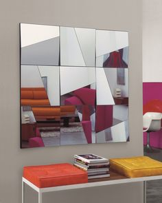 Wall-mounted #mirror STATI D'ANIMO by @tonellidesign