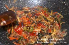 Legume chinezești la wok Meatless Recipes, Japchae, Beef, Ethnic Recipes, Salads, Ox, Ground Beef, Steak