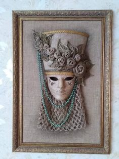 Sisal, Masquerade Theme, Carnival Masks, Masks Art, Assemblage Art, Fabric Art, Picture Wall, Creative Inspiration, Textile Art