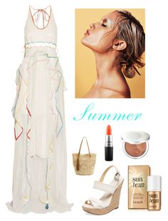 """Summer"" by kotnourka ❤ liked on Polyvore featuring Chloé, Schutz, Estée Lauder, MAC Cosmetics and Nordstrom"