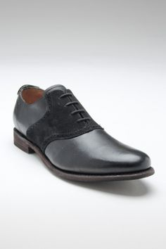 Black on black saddle shoe. Love these so much.  Don't know if Mike would though.