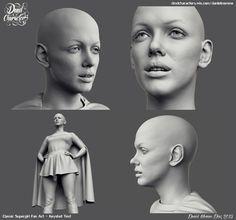 ArtStation - Classic Supergirl Fan Art - Keyshot Test, Daniel Moreno Diaz