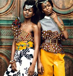 Zion Tribe: Aliane Uwimana Gatabazi and Rachelle Mongita photographed by Maëlle André for MOTEL Magazine #ankara #editorial